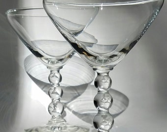 Martini glasses (pair)