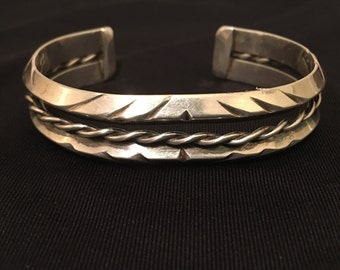 20% OFF SALE***Native American Sterling Cuff Bracelet