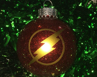 The Flash Inspired Shatterproof Christmas Holiday Tree Ornament New