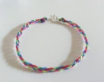 Braided rainbow scooby string choker