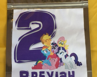 My Little Pony Party Favor Bags
