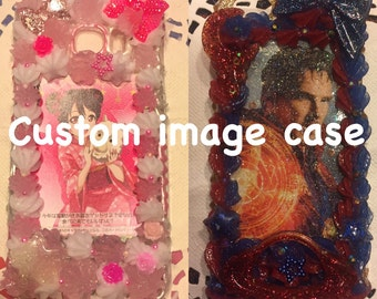 Custom image decoden case for iPhone, Samsung and more