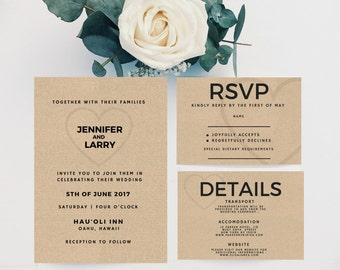 DIY Wedding Invitation Suite I Do Me Too DEPOSIT Printable