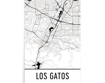 Los Gatos Map, Los Gatos Art, Los Gatos Print, Los Gatos CA Poster, Los Gatos Wall Art, Map of Los Gatos, Los Gatos Gift, Los Gatos Poster