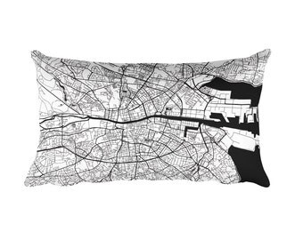 Dublin Pillow, Dublin Decor, Dublin Throw Pillow, Dublin Gift, Dublin Map, Dublin Art, Dublin Ireland, Dublin Throw, Dublin City, Cushion