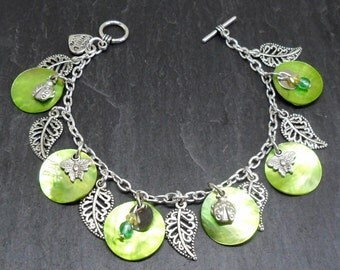 Super Nature Extra Green Charm Bracelet
