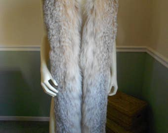 Multi Brown Fox Fur Scarf / Large Collar / Boa Wrap / Stole Shawl