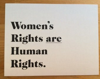 Women's Rights postcard, womens rights are human rights, me too, times up, march on women, feminist postcards, womens march 2018, resist