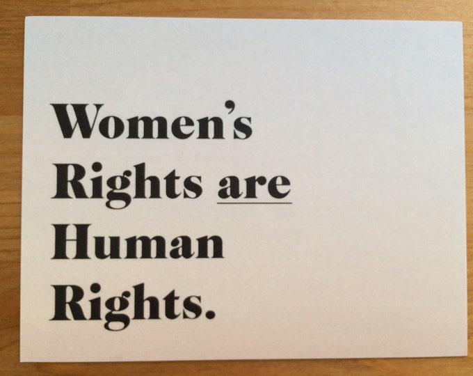 woman's rights are human rights