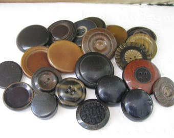 Lot of 22 Assorted Vintage Celluloid Tight Top Buttons