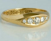 18 carat gold ring with f...