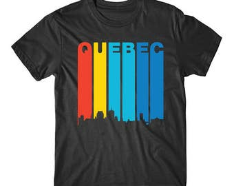 Retro 1970's Style Quebec Canada Cityscape Downtown Skyline Shirt