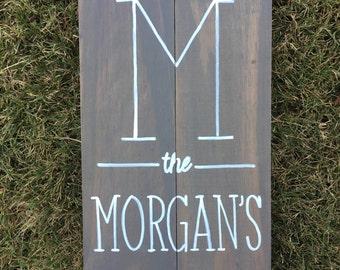Personalized Wood Wedding Sign, Wedding Gift, Established Date, Custom, Wood Sign, Handmade, Monogram Sign