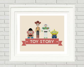 Toy Story Cross Stitch Pattern/pixar stitch pattern/toy story pattern/disney pattern/buzz cross stitch/toy story disney#08-005