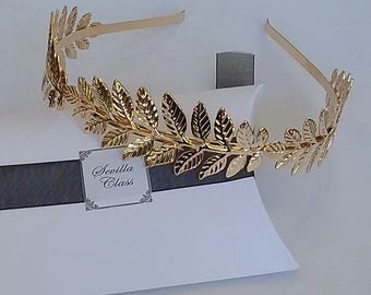 Headband with Golden laurel leaves