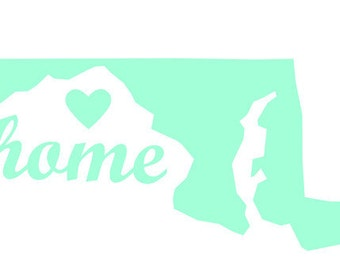 Maryland State Decal - Maryland Vinyl Decal- Maryland Car Decal - MD Gift Decal