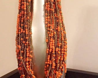 African handmade beaded necklace