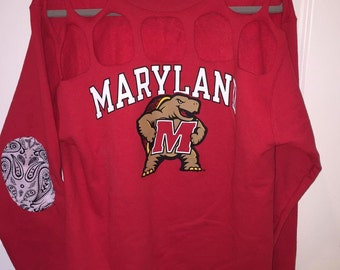 Holey Custom College Tailgate Sweatshirt with Elbow Patches