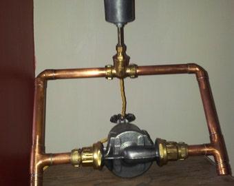 Steampunk Industrial  Waterpump Lamp