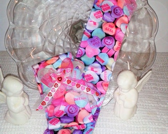 Girls Valentine Candy Knee Hi Stockings,Dance warmup,Ballet socks,Dance Socks,gymnastics,Valentine's Day stockings, girls socks,silly socks