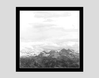 On Top of a Mountain Digital Art Print; Mount Pilatus Switzerland wall art; Swiss art; Switzerland art; gallery wall art; shelf decor; Alps