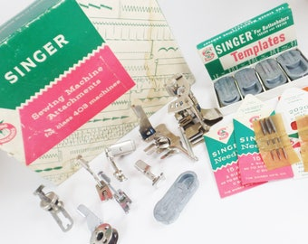 Vintage Singer sewing machine attachments, class 403 machines, vintage sewing accessories, vintage sewing collectibles, Singer sewing parts