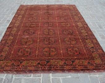 9'3 x 6'7 FT Vintage Persian area rug, 100% wool rug