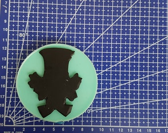 Flexible silicone mold shape Mad Hatter (Alice in Wonderland) Original GeaCreations