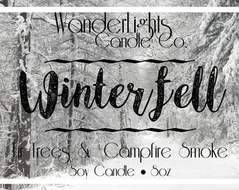 Winterfell - Game of Thrones Inspired Soy Candle