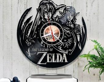 The Legend of Zelda Vinyl Record Clock/Wall clock *V138 Gift for Gamer/Wall Vinyl Clock/Record Wall CLock/Video Game Clock/Lp Clock