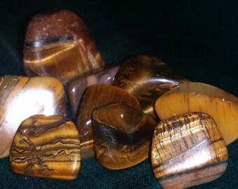 Tigers Eye Crystal Tumbled Stones Reiki Crystal, Crystal healing