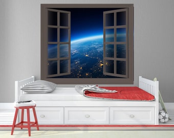 View of Earth from Outer Space Wall Decal / Earth from Space - TOUWD10026