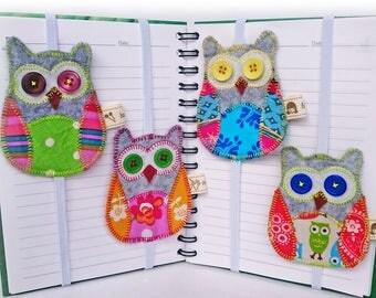 Owl bookmarks, Felt bookmarks, Unique bookmark, Felt Owl, Reading bookmark,  Animal bookmark, Gray Owl, Cute bookmark, Reading accessories