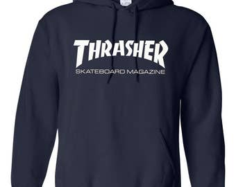 Fashion Thrasher Skater Magazine skate skateboard hooded sweatshirt Gift Unisex Souvenir