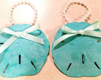 Sea Blue Sand Dollar pair