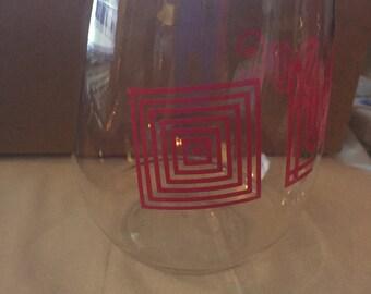 6 GLASS wine glass with LuLaRoe logo!