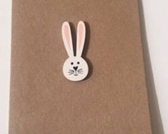 Easter Bunny blank inside greeting card