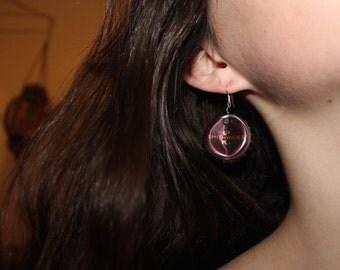 recycled bottle caps earrings // Ashlyn Lanier