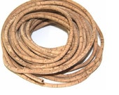 Cork rope 3 mm natural 40 inches