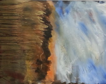 Abstract Original Painting Contemporary Modern Art Landscape Inspired by Nature - Tumultuous