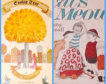 Vintage childrens Books/lot of two/Cookie Tree 1965/The Case of the Cats Meow 1967good used condition/Great Illustrations/CLEARANCE