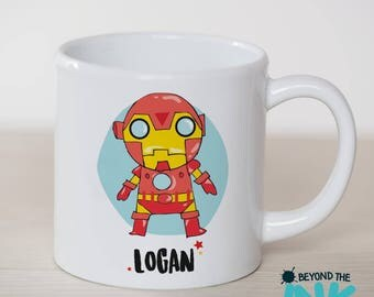 Personalised Iron Man Small Plastic Toddler Cup - Children's Plastic Cup - BPA Free
