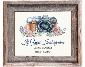 Personalized instagram hashtag your wedding baby shower for Decor hashtags