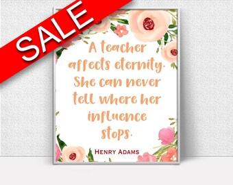 Wall Art Gift Digital Print Teacher Poster Art Gift Wall Art Print Teacher Quote Art Teacher Quote Print Gift Wall Decor Gift teachers quote