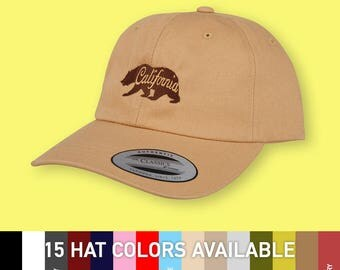 California state bear - choose hat color dad hat with embroidery