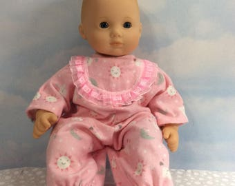 Bitty baby feet pajamas in pink