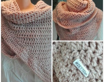 Wrap scarf in soft rose