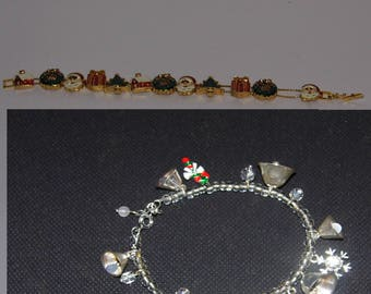 Choose your Christmas Bracelet - Silver Bells or Golden Santa Claus - World Wide Priority Shipping! More in Shoppe!