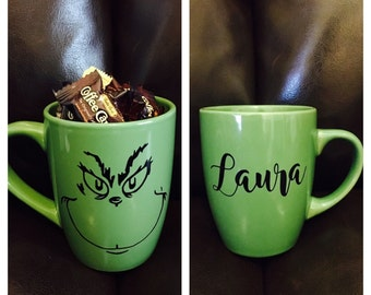 Personalized Grinch Coffee Mugs