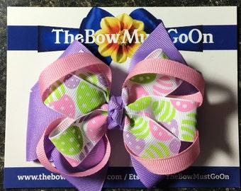 Spring Hair Bows/Easter Bows/Easter Hair Bows/Purple Bows/Green Bows/Spring Bows/Easter Hair Accessories/Pastel Bows/Pastel Hair Bows